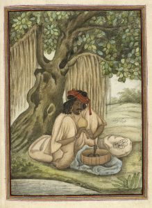 Tashrih al-aqvam, an account of origins and occupations of some of the sects, castes and tribes of India. - caption: 'A snake-charmer of the Sapera caste.'
