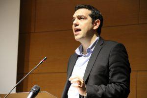 Le premier ministre Grec, Alexis Tsipras (Crédit Photo : DIE LINKE. in Europa)