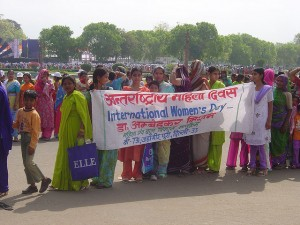 International Women's Day in India.  Stop to the female infanticide.  (Crédit Photo : Jolene)