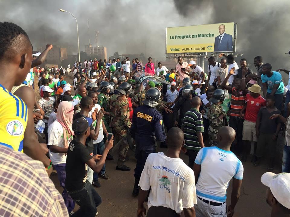 Affrontements au secteur Madina le Jeudi 9 Octobre lors du retour du candidat Cellou Dalein